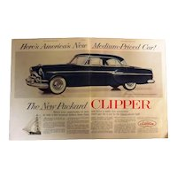 1953 PACKARD CLIPPER Double Page Spread Advertisement