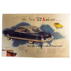 1952 Kaiser Manhattan Original Double Page Advertisement