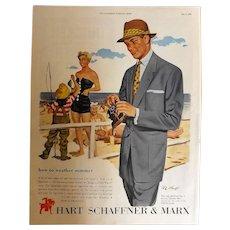 Hart Schaffner & Marx Original 1953 Full Page Advertisement