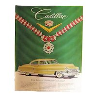 1953 Cadillac Original Full Page Adverisement