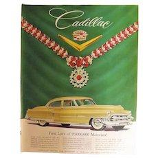 1953 Cadillac Original Full Page Adverisement