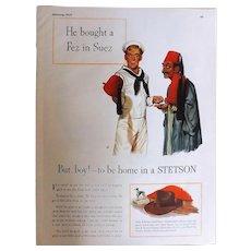 1945 STETSON Full Page Advertisement
