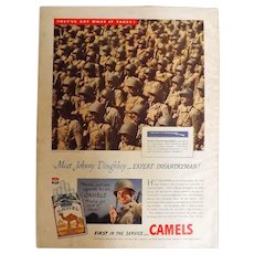 CAMEL Cigarettes 1944 Original WW11 Era Full Page Advertisment