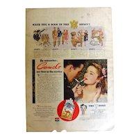 CAMEL Cigarettes 1944 Original WW11 Era Full Page Advertisment