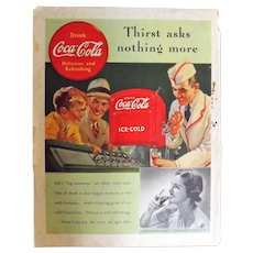 1939 COCA-COLA Original Full Page Advertisement