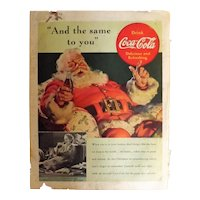 1939 COCA-COLA Original Full Page Advertisement