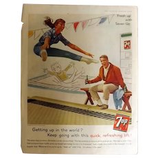 1953 7UP Original Full Page Advertisement
