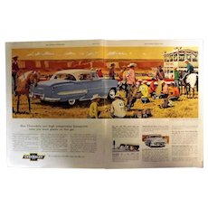 Chevrolet 1953 Bel Air Sports Coupe  Original Double Page Spread