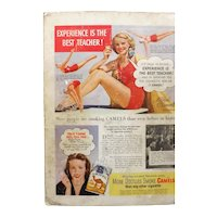 CAMEL Cigarettes Original Advertisement 1947 -Mildred O' Donnell - Diving Champion