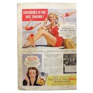 CAMEL Cigarettes Original Advertisement 1947 -Mildred O' Donnell - Diving Champion