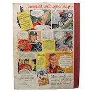 CAMELS Cigarettes Advertisement Esquire Magazine 1940's- Clem Murdaugh -USA Nat. Hill Climb Champion 1946~47