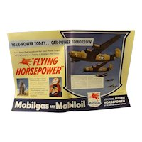 "WW11 Mobilgas Double Page Advertisement ""Flying Horsepower"""