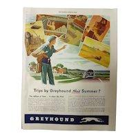 GREYHOUND Coach Lines War Time Advertisement -1944