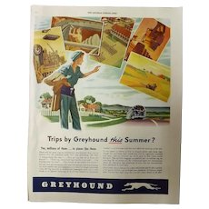 GREYHOUND Coach Lines War Time Advertisement -1944