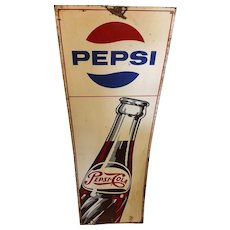 Original 1970's Large PEPSI COLA Tin Sign