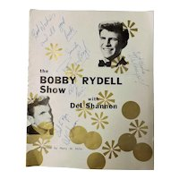 "Original 1962 Signed Program ""The Bobby Rydell Show With Del Shannon in New Zealand"