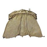 Splendid Victorian Era Ladies Ornate Silver Plated Mesh Shoulder Bag
