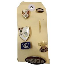 Six Assorted Vintage Rugby Union & Rugby League Badges