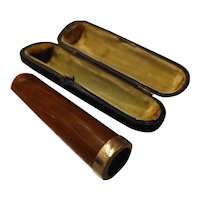 Cigar Holder in Amber with 9 carat Gold Rim Hallmarked for 1897