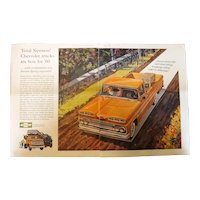 1960 CHEVROLET Trucks - Original Advertisement Saturday Evening Post