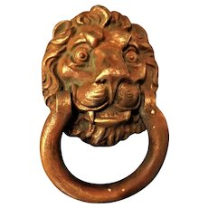 Victorian LION HEAD Big Solid Brass Door Knocker