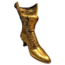 "Gorgeous Solid Brass""Granny Boot"" or Witches Boot"