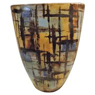 FRENCH - Vallauris - Mid Century Pottery Vase By Alexandre Kostanda