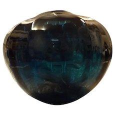 Spectacular GARY NASH Large Electric Blue Art Glass Vase