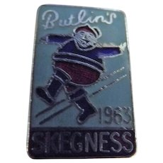 Vintage BUTLINS Holiday Camp Badge Skegness 1963