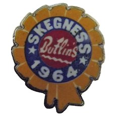 Vintage BUTLINS Holiday Camp Badge Skegness 1964