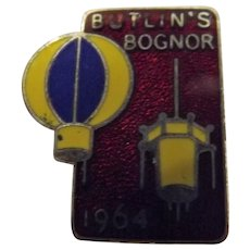 Vintage BUTLINS Holiday Camp Badge Bognor 1964