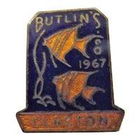 Vintage BUTLINS Holiday Camp Badge Clacton 1967