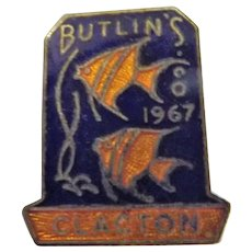 Vintage BUTLINS Holiday Camp Badge Clacton 1967