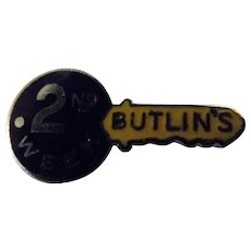 Vintage BUTLIN'S Holiday Camp Badge 2nd Week Badge