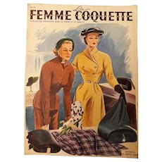"French 1940's Fashion Magazine ""La Femme Coquette"""