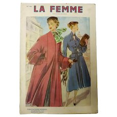"Spanish Fashion Magazine ""La Femme"" Circa 1950"
