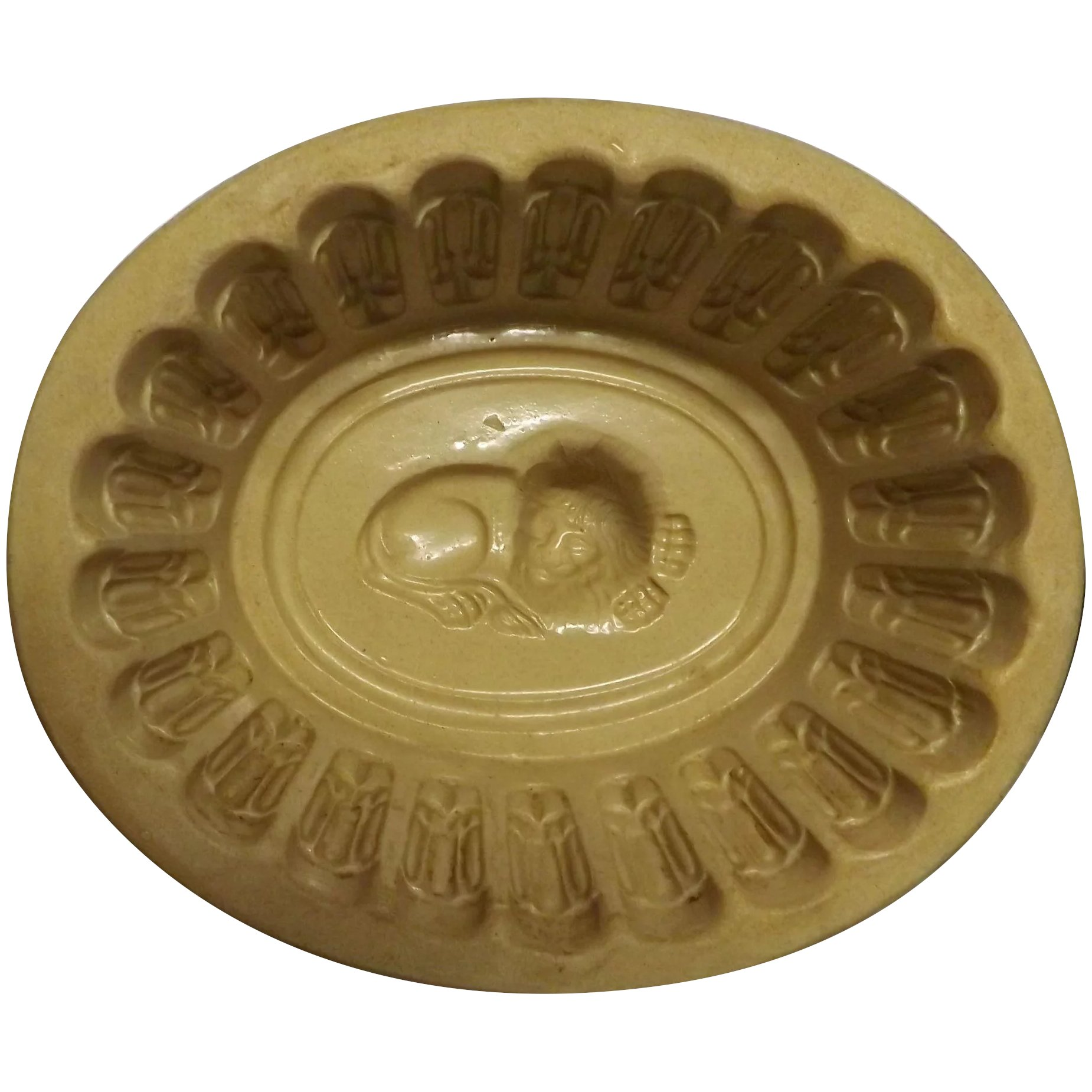 Large Victorian Ceramic Jellied Aspic or Jelly Mold