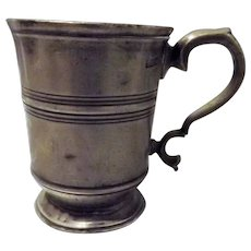 Early Victorian Polished Pewter Half Pint