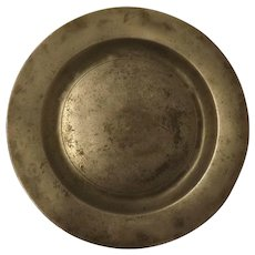 "Georgian 9"" Polished Pewter Plate -London Quality Mark"
