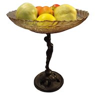 Sensational Art Nouveau Figural Fruit Bowl or Compote Circa - 1880-1910