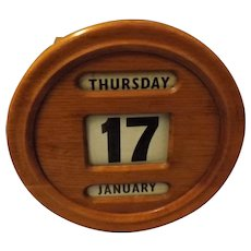 Victorian Perpetual Wall Calendar - English Oak