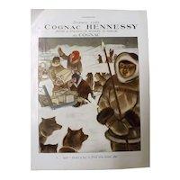 L'Illustration Original 'Cognac Hennessy' Advertisement 1937