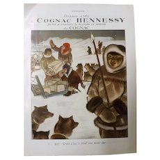 L'Illustration Original 'Cognac Hennessy' Advertisement 1937