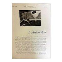 L' Automobile Special 76 Page Feature - L'Ilustration Magazine 1938