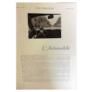 L' Automobile Special 76 Page Feature - L'Ilustration Magazine 1938