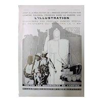 """ORIGINAL  ART DECO """"Toutes Les Resources de L' Empire"""" Advert From  L ' Illustration French Magazine  March 1940"""