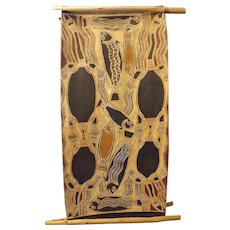 Aboriginal Bark Art - Yiritja Moietie - Arnhem Land Australia - Circa 1960