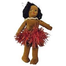 Norah Wellings 1930's Pacific Hula Girl Doll