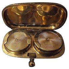 Edwardian Nine Carat Gold Double Sovereign Holder