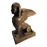 Egyptian Revival Large Bronze Sphinx - France Circa 1880-1890